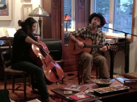 My friend Monica, who is an amazing Cello player sat in with me at the Boulder House Concert. So fun!