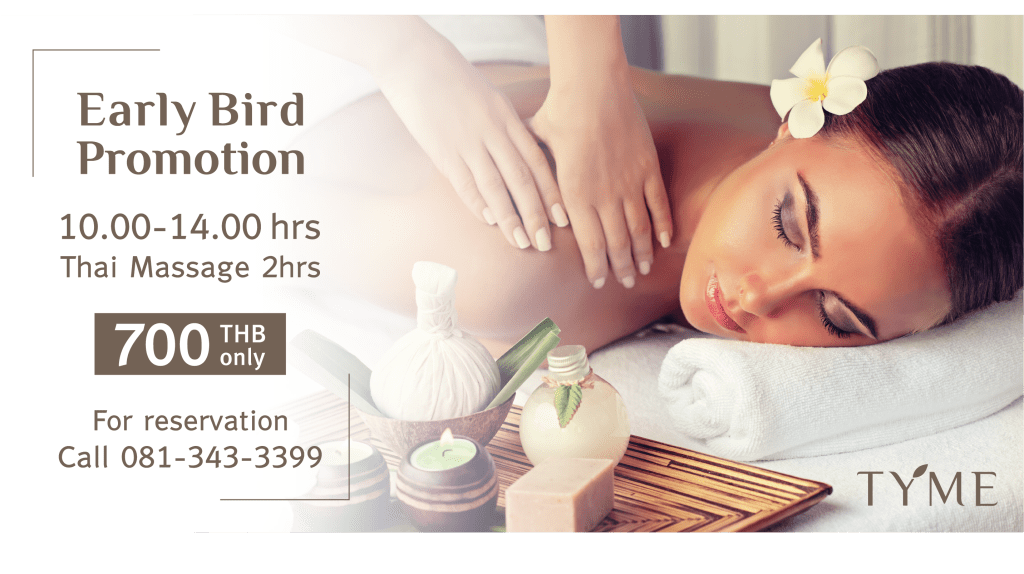 EarlyBird Tyme Spa Promotion