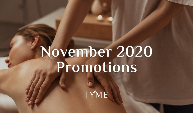 TYME Spa November 2020 Promotion