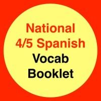 Nat 4/5 Spanish Vocab Booklet
