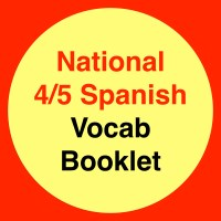 Nat 4/5 Spanish Vocab Booklet