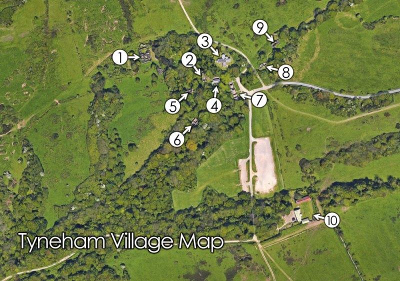 Tyneham Village Map