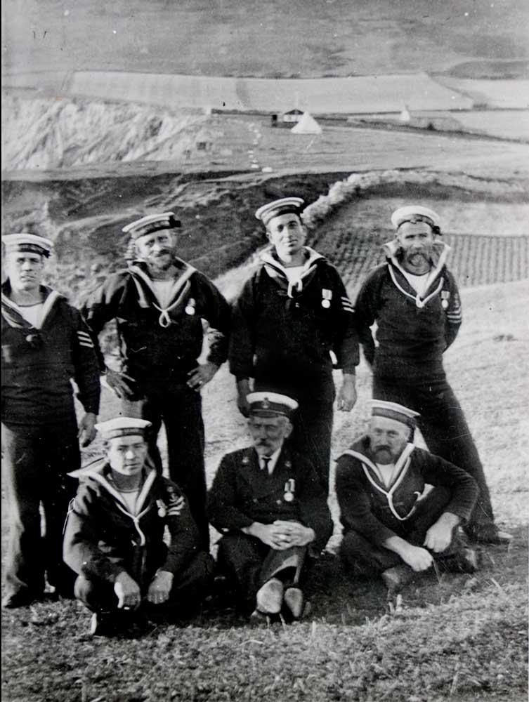 Coastguards at Worbarrow Bay