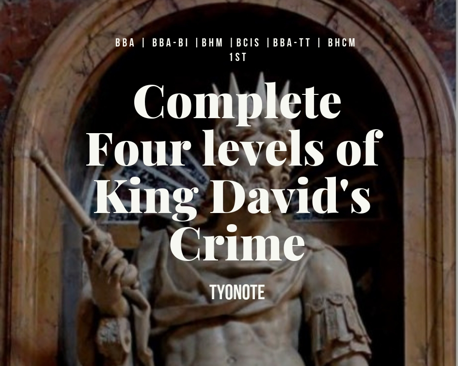 king David crime four levels