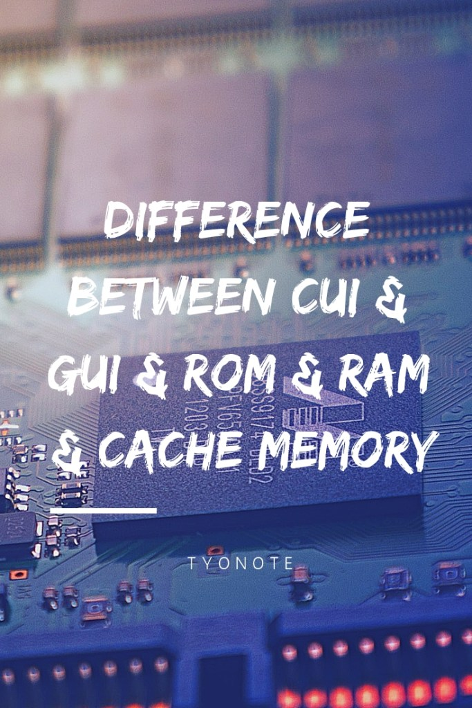 difference between cui gui rom ram sram dram prom eprom eeprom cache memory buffer