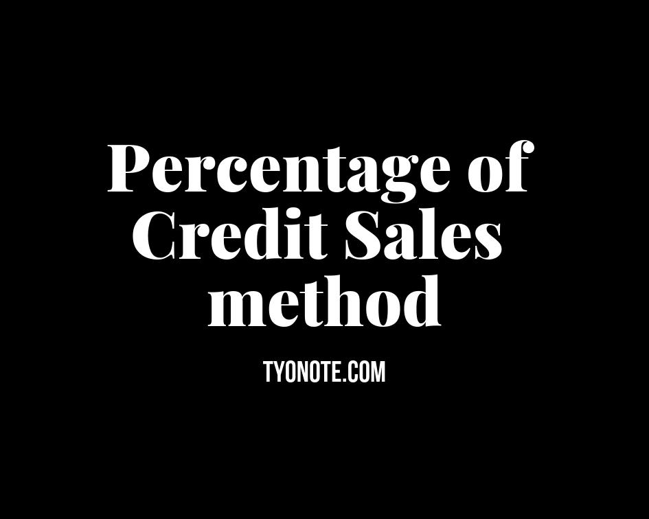 percentage credit sales method