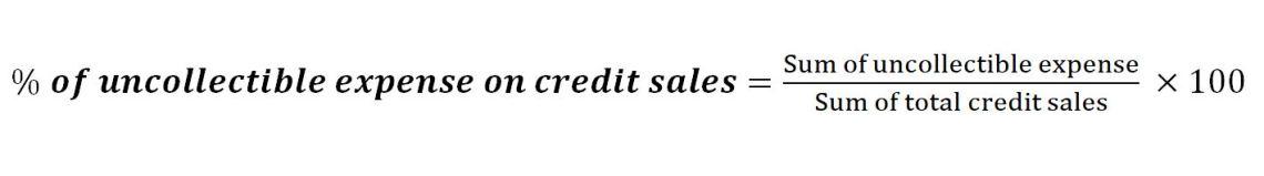 credit sales percentage formula