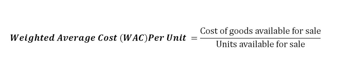 weighted average cost (WAC) method formula