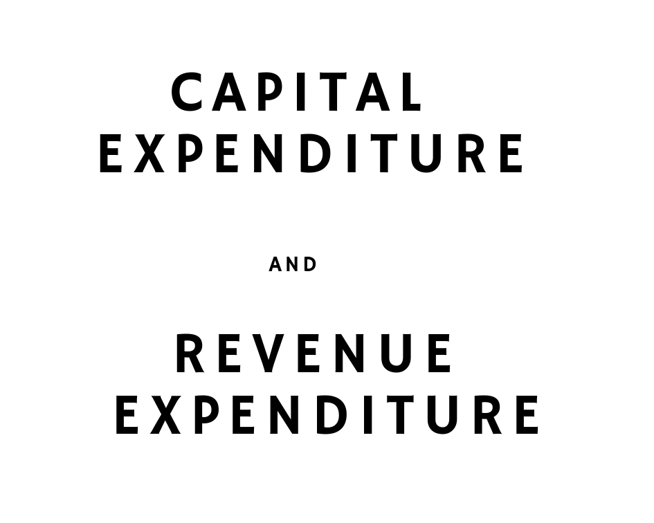 capital expenditure revenue expenditure