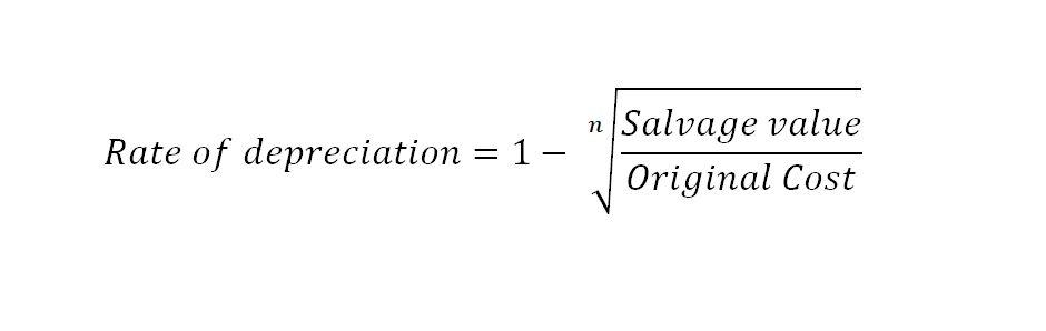 reducing balance method depreciation rate