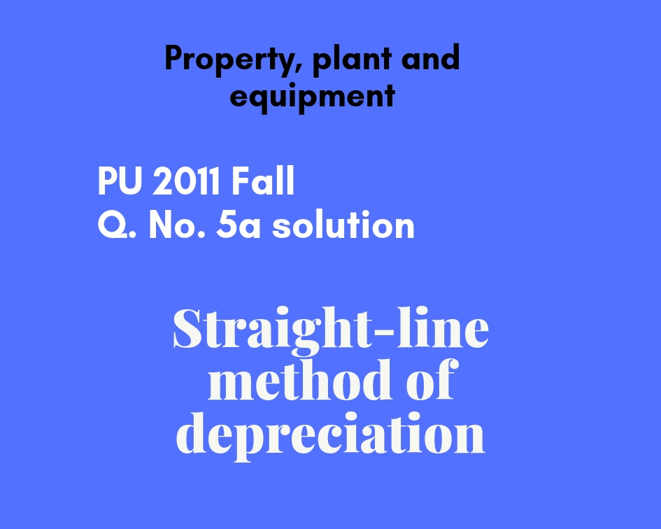 straight line method of depreciation