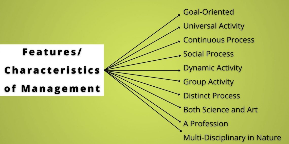 management features and characteristics