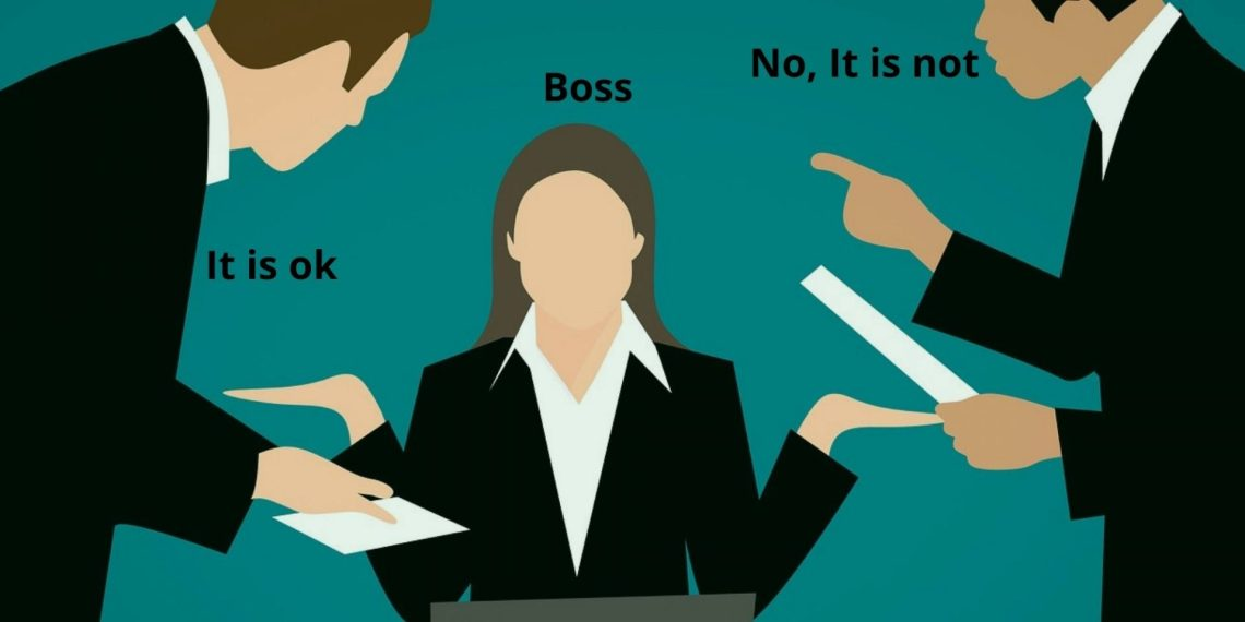 conflict between boss and employees