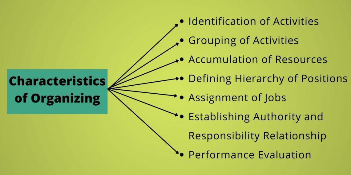 characteristics of organizing