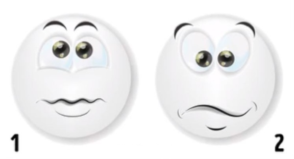 two surprised faces personality test