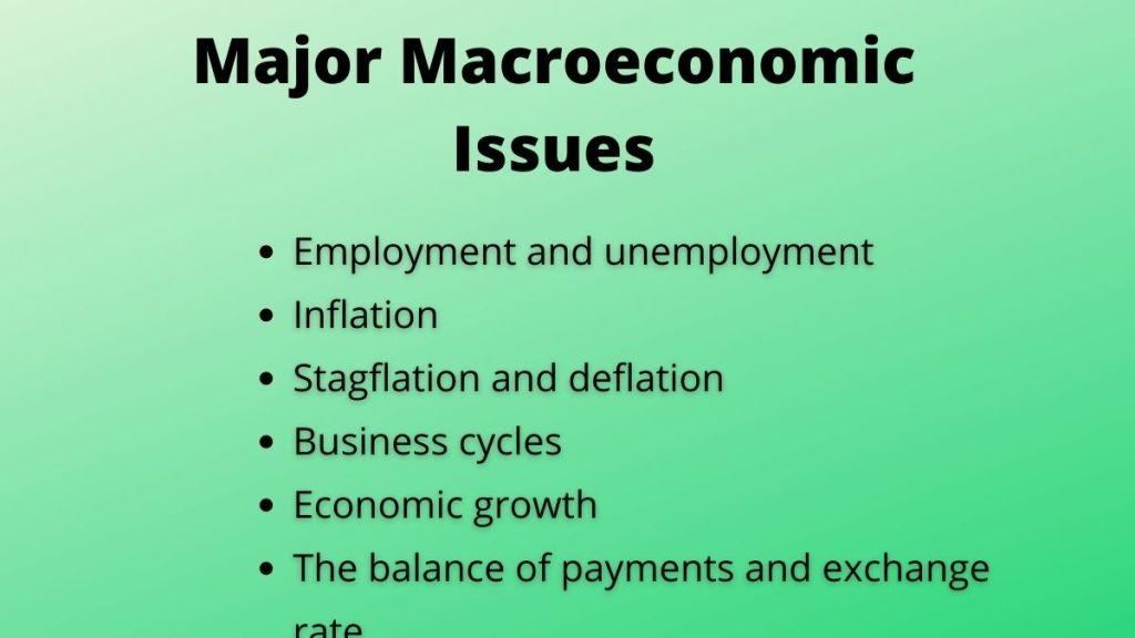 macroeconomic issues
