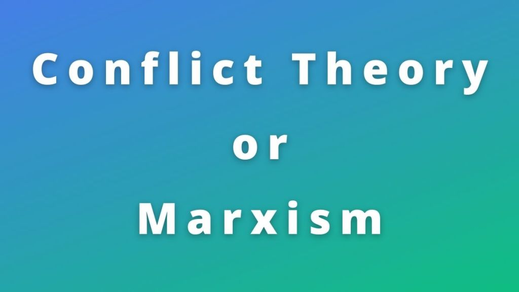 conflict theory
