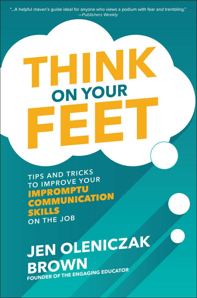 Think on your feet one of public speaking books