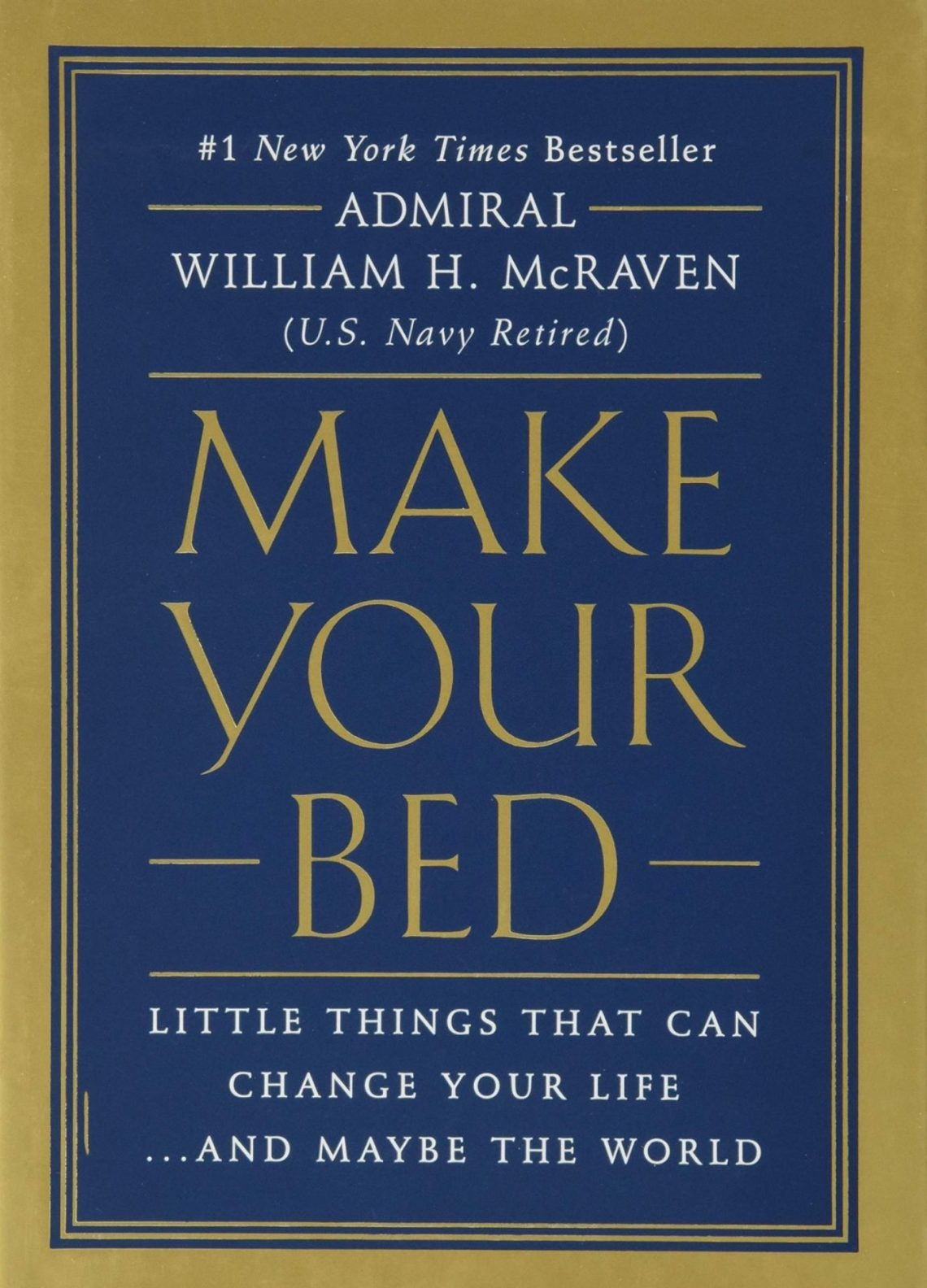 Make your bed one of motivational books