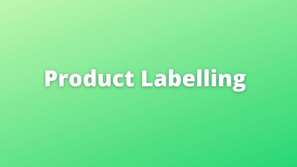 product labelling