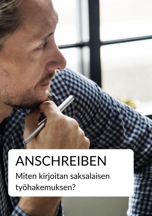 Anschreiben - saksalainen työhakemus