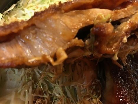 会津若松とんかつ番番デカ盛り本当に大きなソースかつ丼かつリフト接写