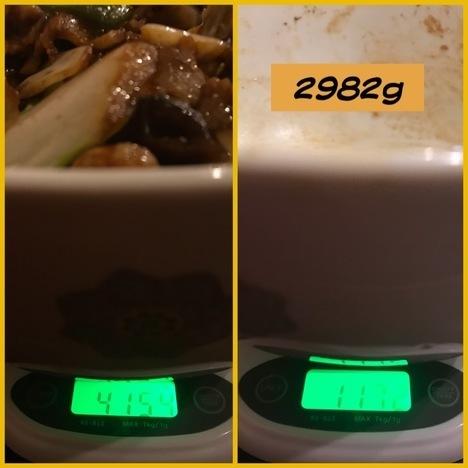 銀座蘭州回鍋肉丼特盛大食い計量