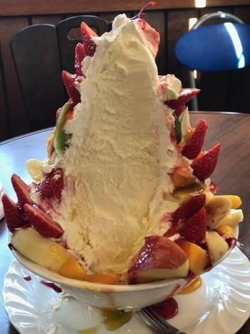 銚子下総豊里プれンティ期間限定デカ盛りフルーツパフェ