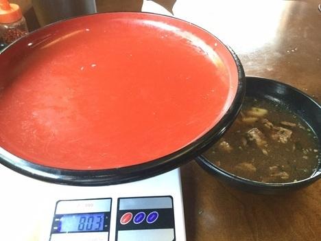 足利阿吽肉汁うどん2kg15分チャレンジ成功