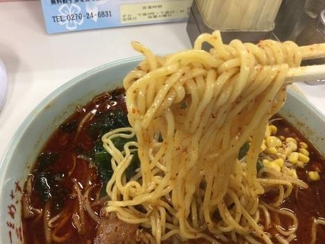 上州ラーメン伊勢崎アルプスラーメン雷5番麺リフト