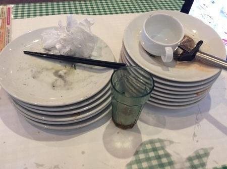ヴォーノ・イタリア完食皿