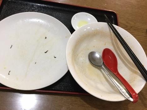 高崎市新町台湾料理隆福園高菜チャーハン担々麺セット完食