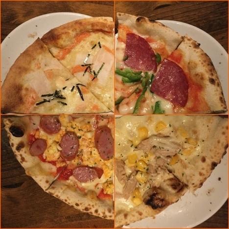 ナポリの食卓桐生店巡回のピザ複合写真