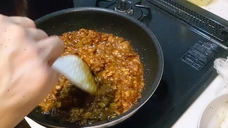 自家製インドカレー手料理調理風景