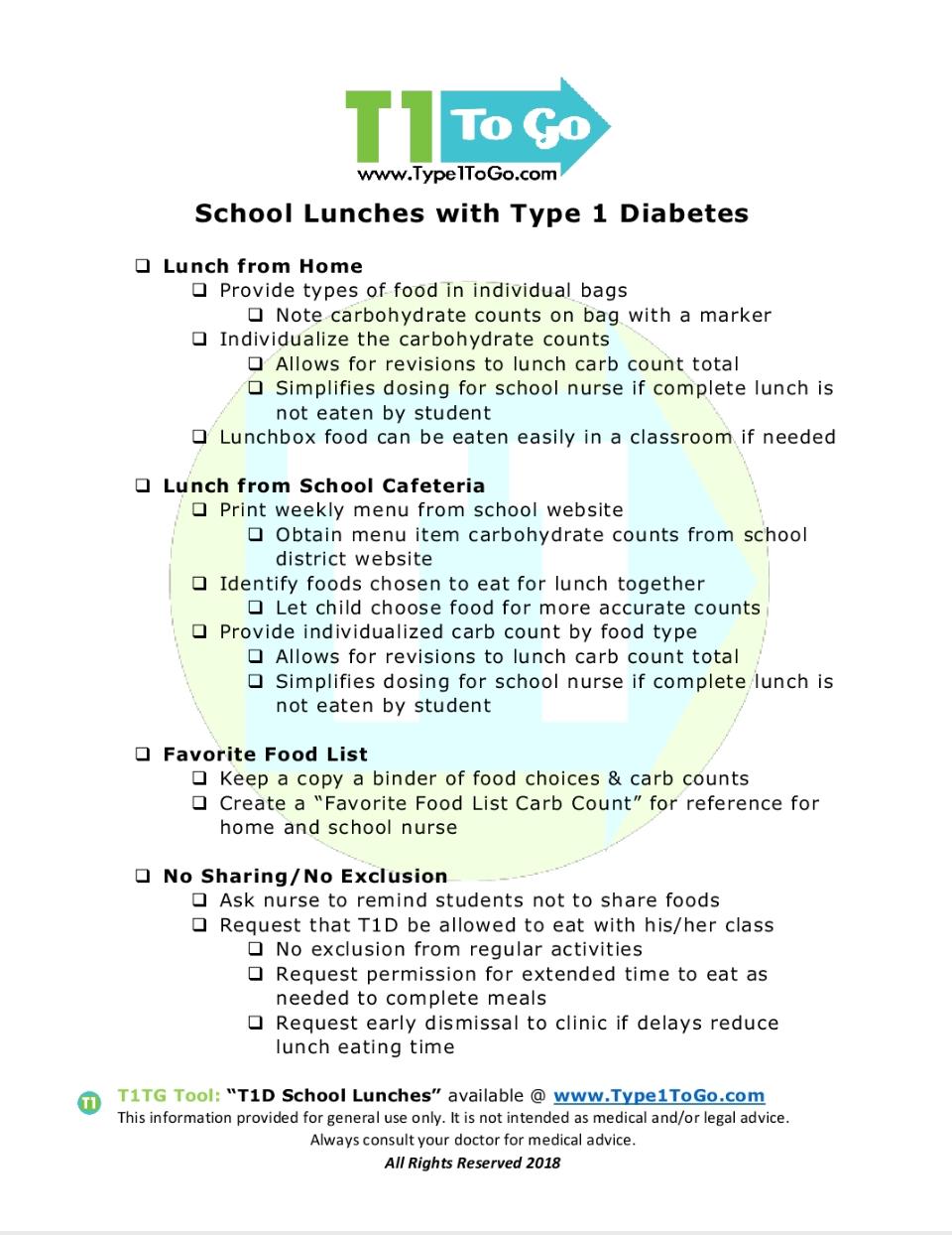 Preparing For Kindergarten With Type 1 Diabetes Type 1 To Go