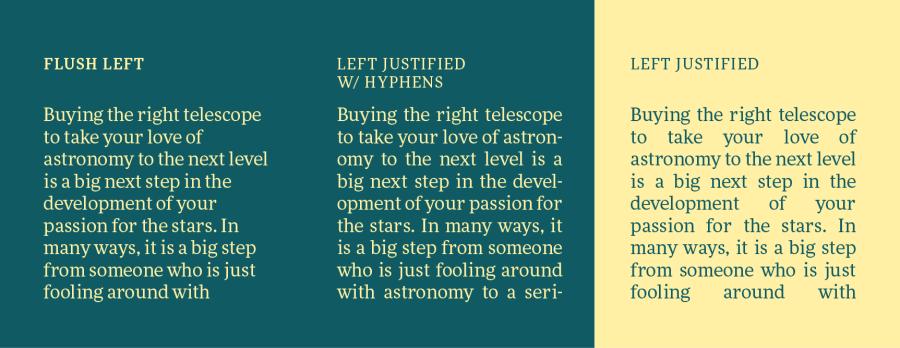 Type Tip #8: avoid typography rivers