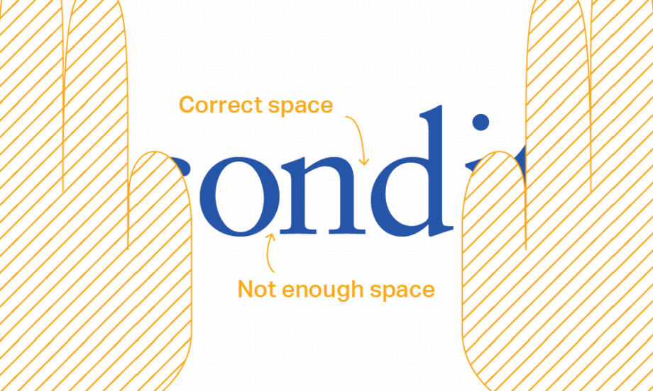 Look to see if the center letter looks centered