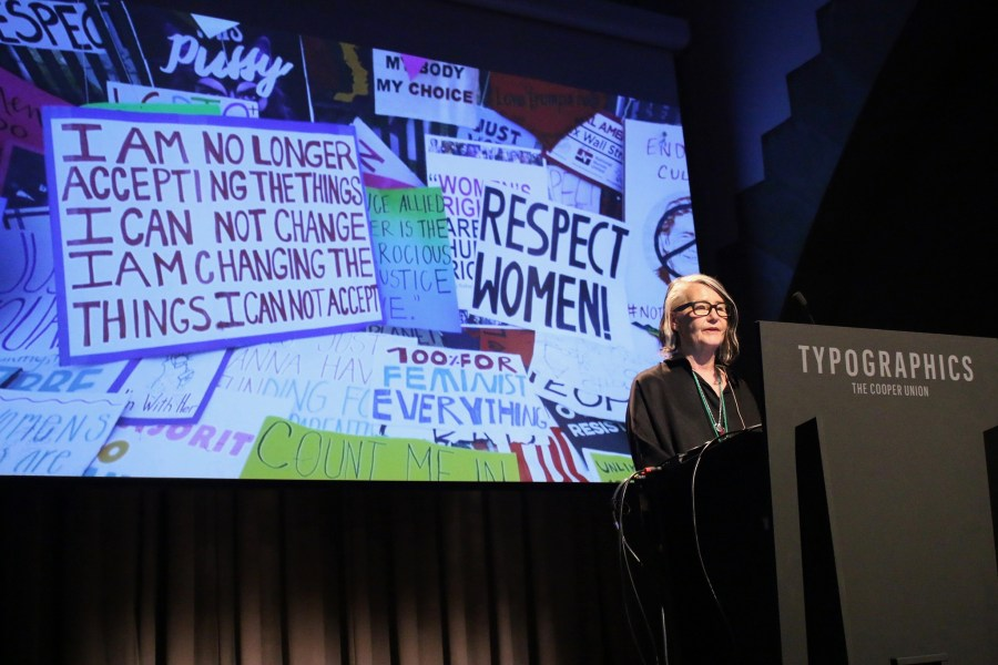 """Marlene McCarty with """"Resist Typography"""""""