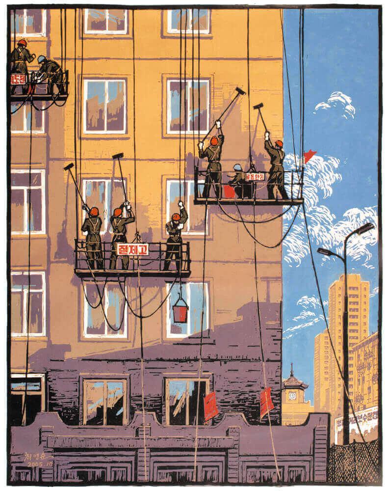 Painting Pyongyang by Choe Yong Sun, 2005.