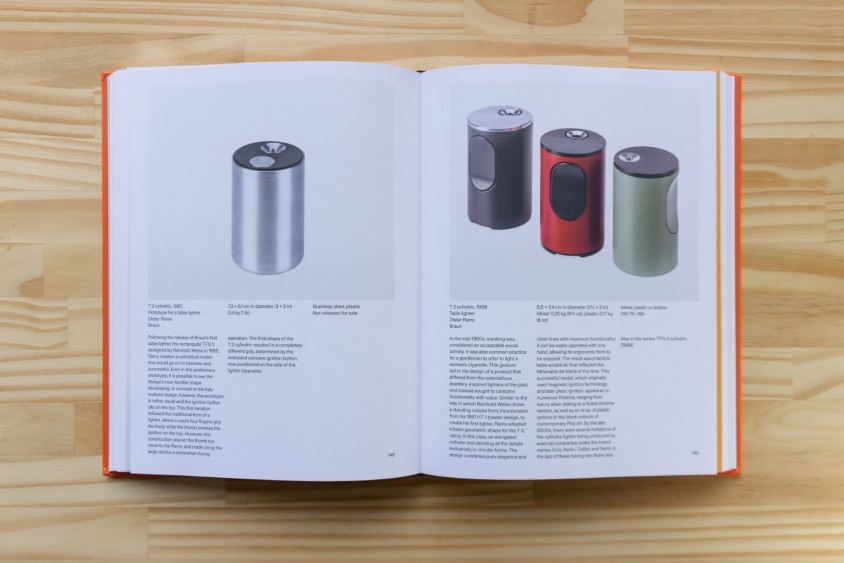 T 2 cylindric table lighter prototype (1967) and released versions (1968)
