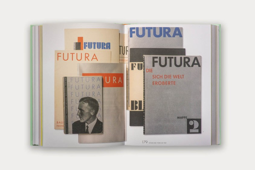 A collection of early Futura specimen covers.