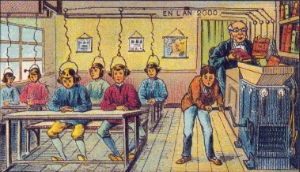 "Attributed to Jean Marc Cote (1901) or Villemard (1910), ""French School in the Year 2000"""