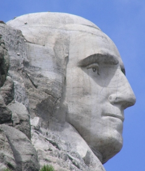 o Gutzon Borglum, George Washington on Mt. Rushmore, Photo: Scott Catron