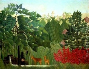 Henri Rousseau, The Waterfall-300x