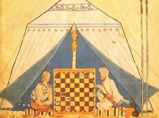 Christian & Muslim Playing chess310x230