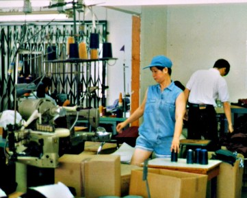 """Working together in a new country, my parents created a thriving business producing clothing such as blouses, dresses, and skirts for local brands."""