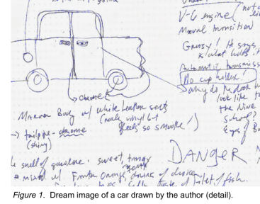 """I am viscerally experiencing Car #2, the Falcon, and I begin to draw it"""