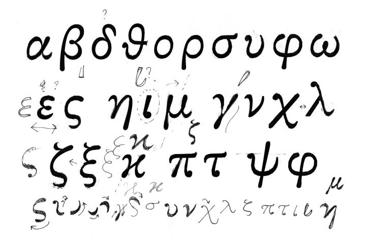 Roman greek letters latex docoments ojazlink