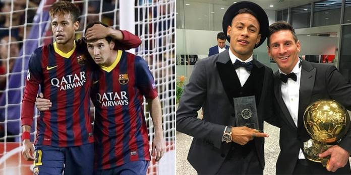 Image result for neymar and messi are close friend