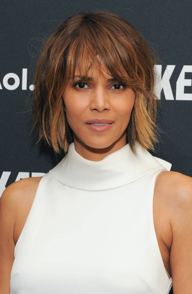 halle berry's short haircut is such a different look for the